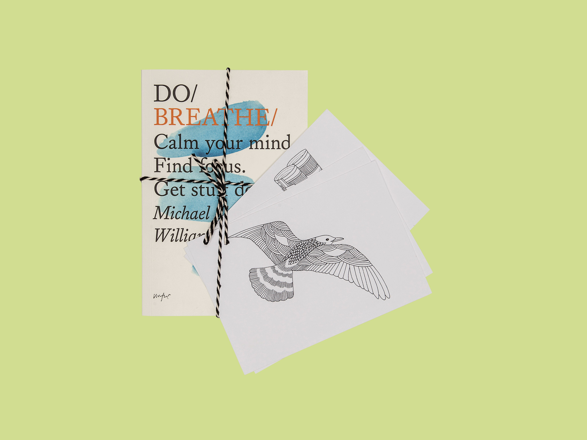 'Do Breathe' by Michael Townsend Williams and postcards by Millie Marotta