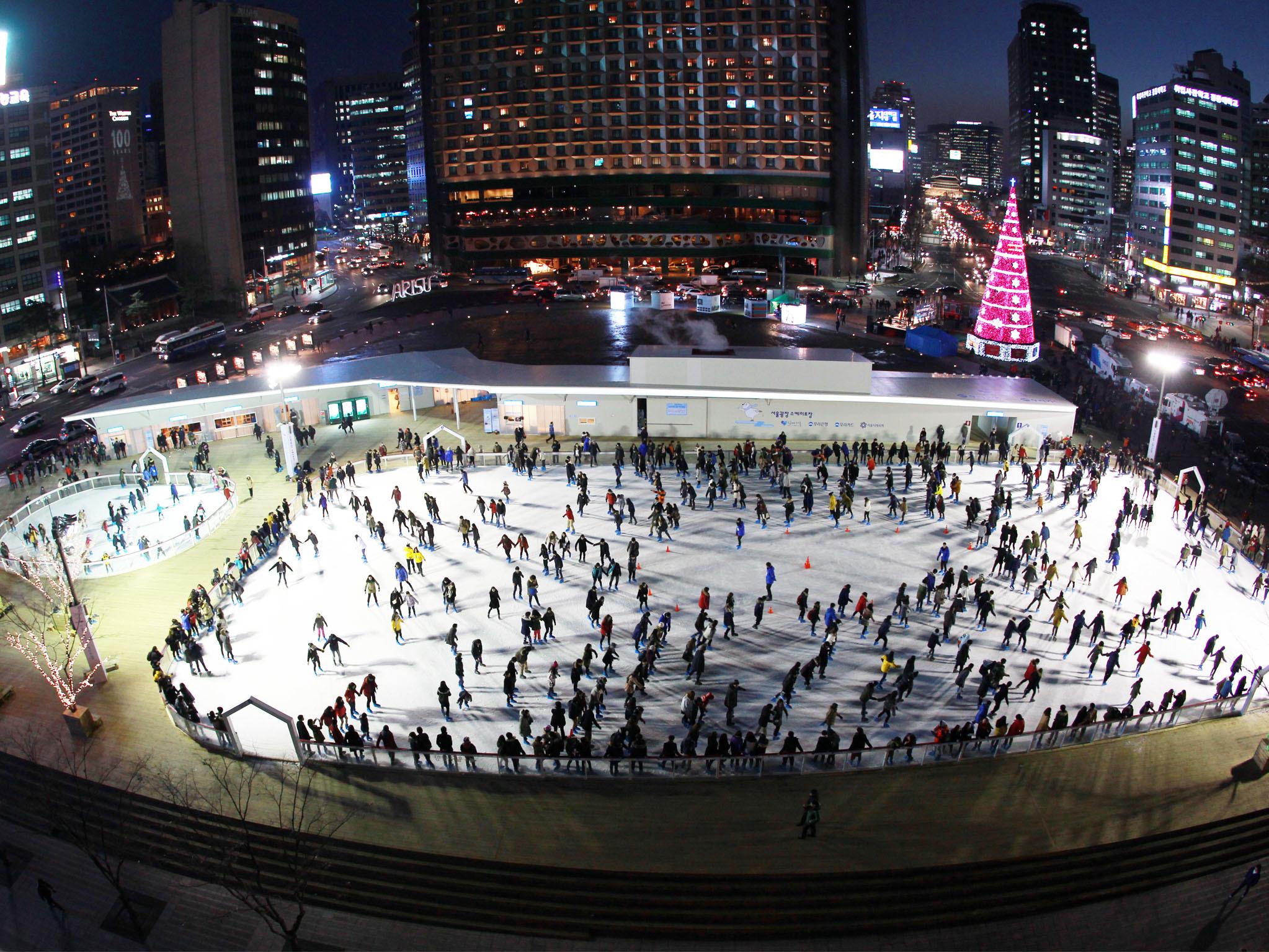 서울시청 광장 스케이트장