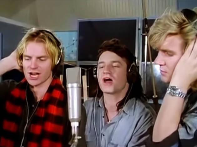 Band Aid at Sarm Studios