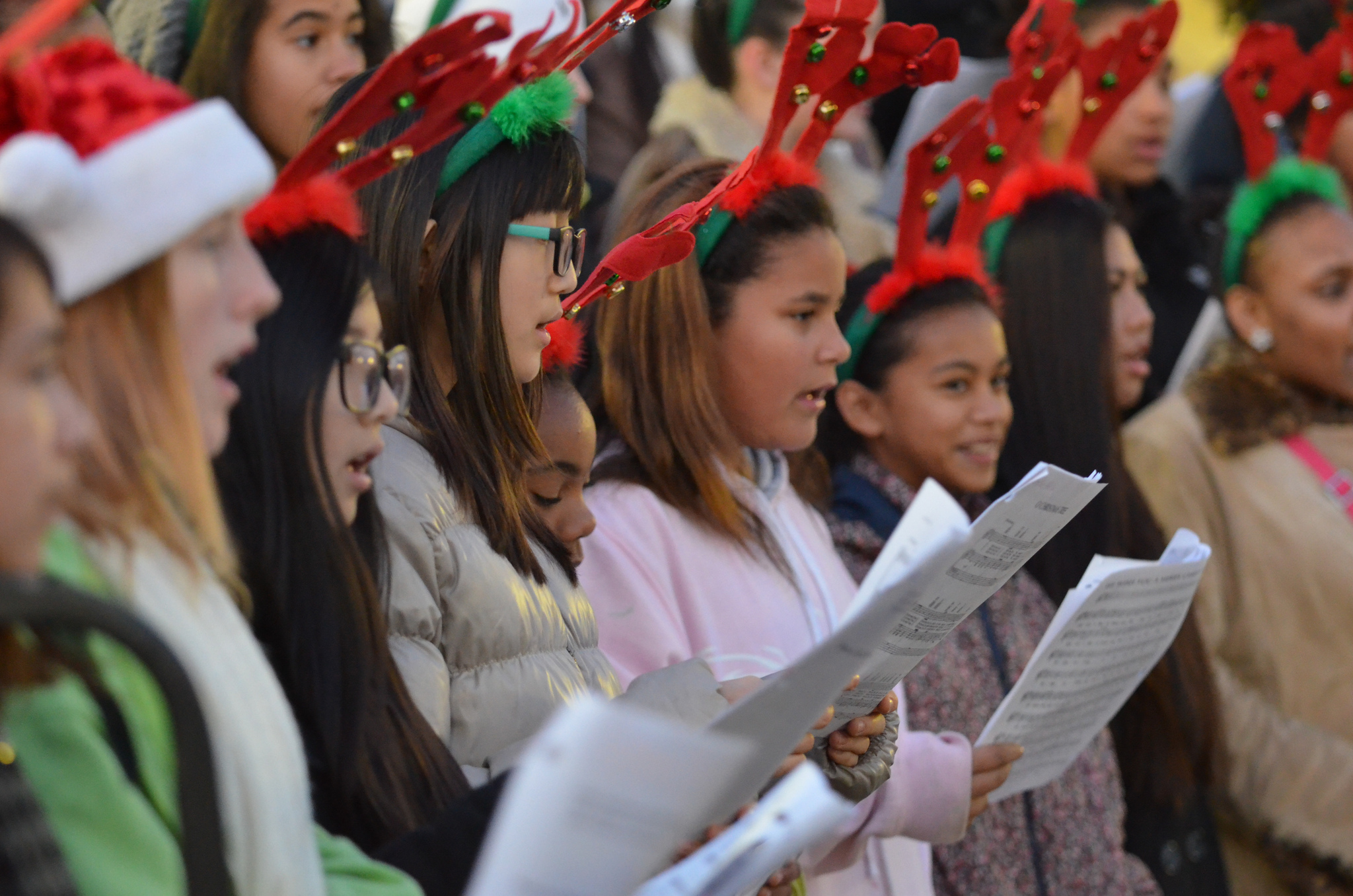 Christmas caroling in New York City for families