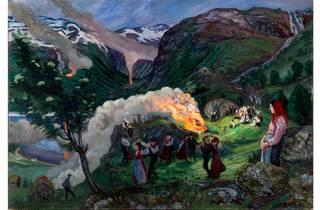 (Nikolai Astrup: 'Midsummer Eve Bonfire', before 1915. The Savings Bank Foundation DNB/The Astrup Collection/KODE, Bergen Art Museum, Norway)