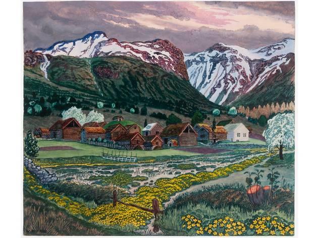 (Nikolai Astrup: 'Marsh Marigold Night', c1915. The Savings Bank Foundation DNB/The Astrup Collection/KODE, Bergen Art Museum, Norway)