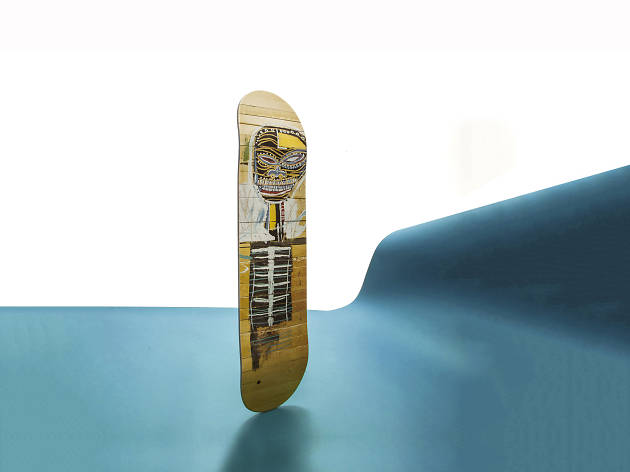 Object of desire - Christmas gift guide: sports - Gold Griot skateboard by Jean-Michel Basquiat x The Skateroom