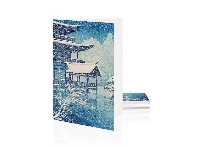 'Snow at Kinkakuji' by Kawase Hasui