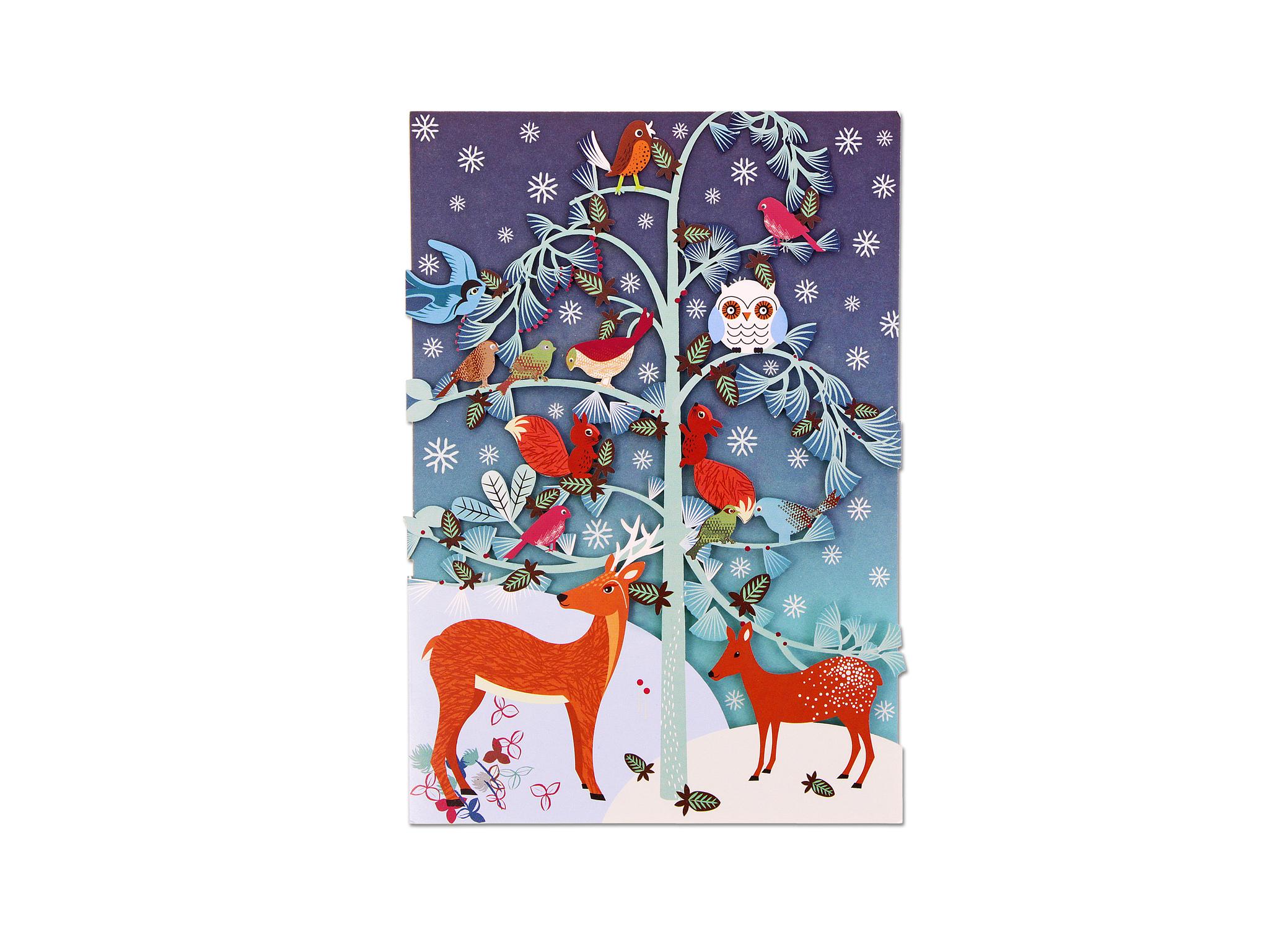Winter critters tree