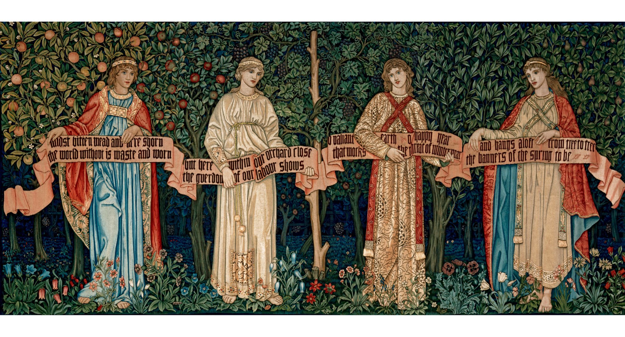 (William Morris, John Henry Dearle, Morris & Co: 'The Orchard', 1890. © Victoria & Albert Museum)