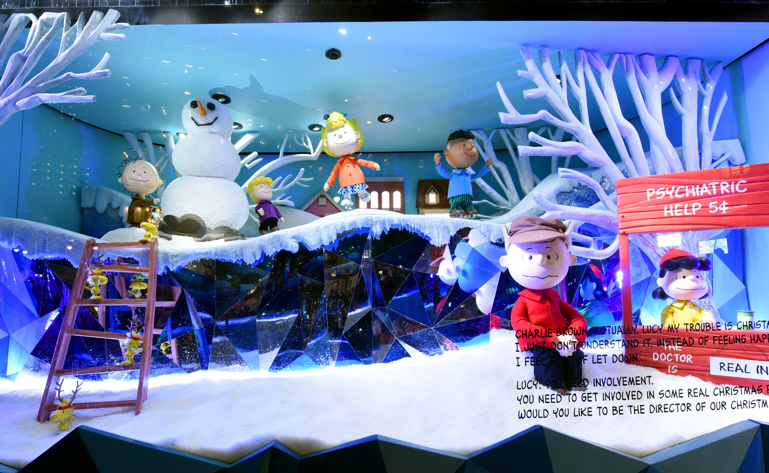 Holiday windows and displays at department stores in NYC