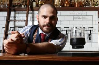 Photograph of Jack Sotti, bartender and general manager at Melbourne bar Boilermaker House