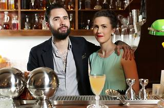 Joe Jones and Rita Ambroz, owners of Melbourne CBD bar Romeo Lane