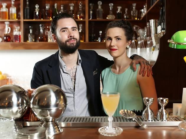 Joe Jones and Rita Ambroz, owners of Melbourne CBD bar Romeo Lane