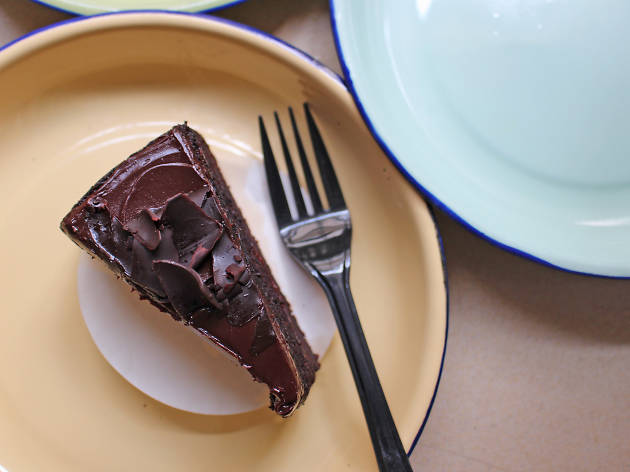 Chocolate guinness cake at Yellow Brick Road