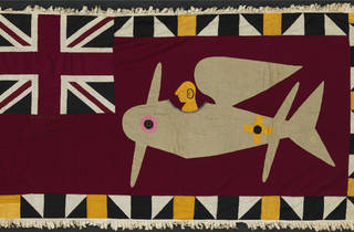 (Fante Artists, Gold Coast, Africa: 'Asafo Flag 3', 1900-40. Pebble London Collection)