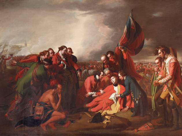(Benjamin West: 'The Death of General James Wolfe', 1779. © National Trust (Ickworth House, Suffolk) )