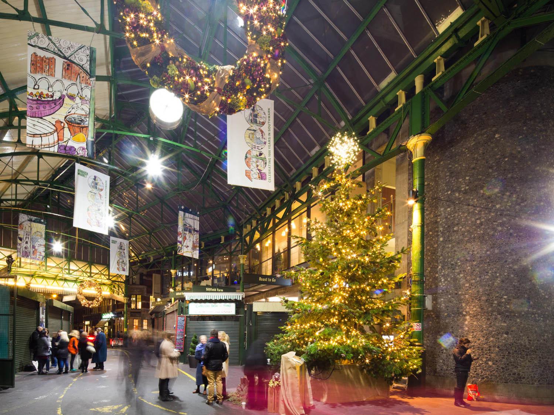Enjoying the festive sights and smells at Borough Market