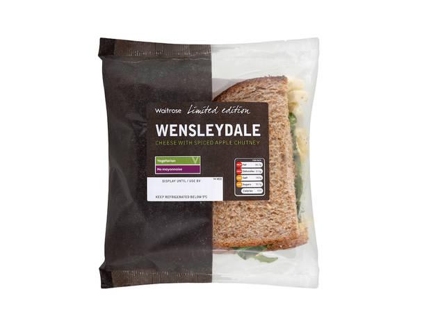 Waitrose: Christmas wensleydale with spiced chutney