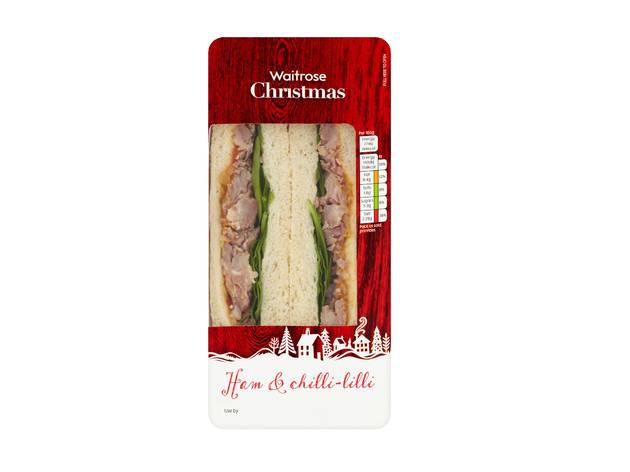 Waitrose: Christmas ham and chilli-lilli