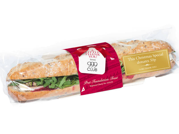 Pret A Manger: Brie and cranberry on stone-baked baguette