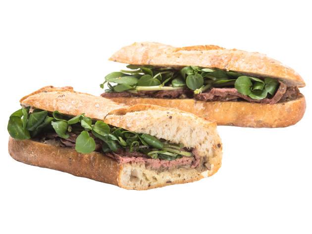 Pret A Manger: Beef Wellington on stone-baked baguette
