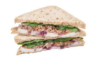 christmas sandwiches, pret christmas lunch