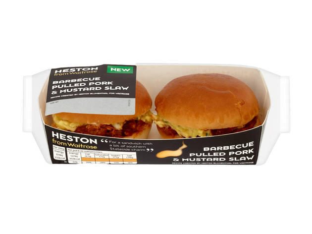 Waitrose: Heston's barbecue pulled pork and mustard slaw