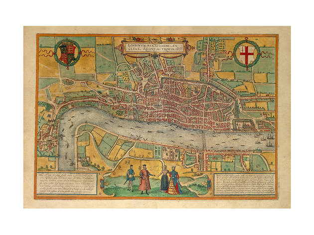 Illustrated Map of London, 1575