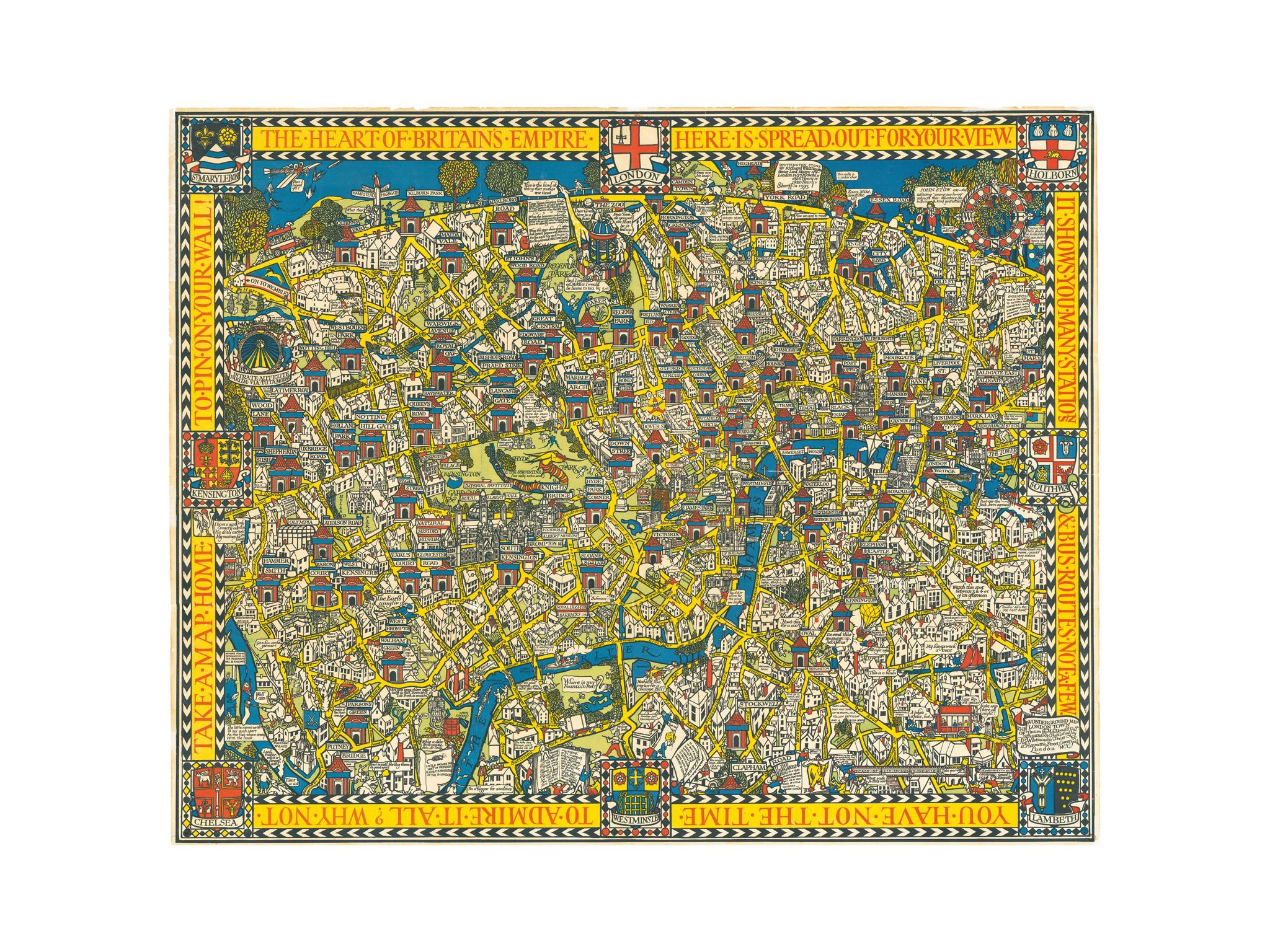 The Wonderground Map of London Town, 1914