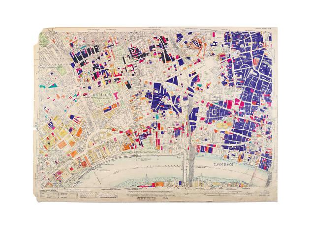 LCC Bomb Damage Map, 1945