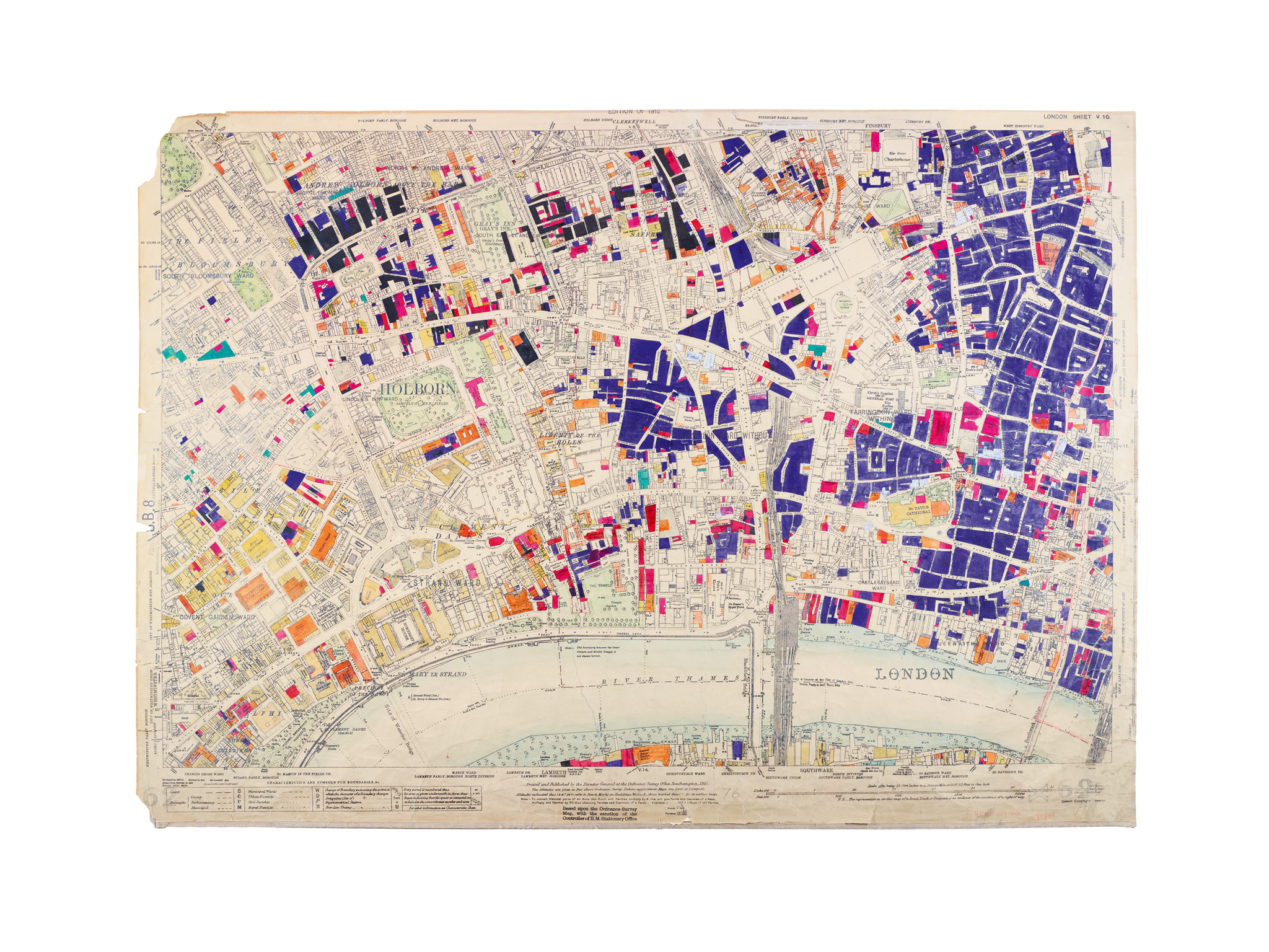 Seven Mesmerising Old Maps Of London London In Pictures - London map 1945