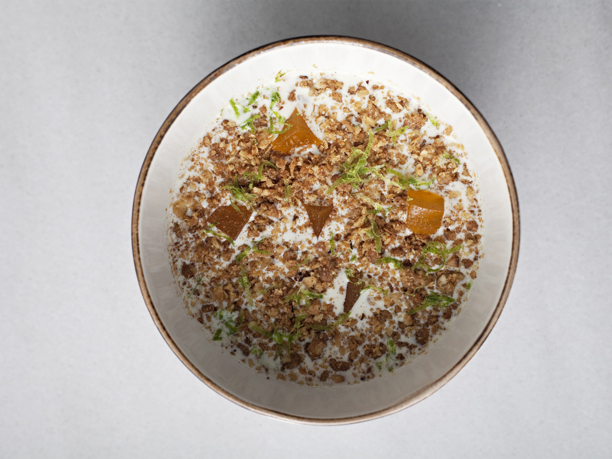 The exotic puddingy one: rice porridge infused with Earl Grey tea at Opso
