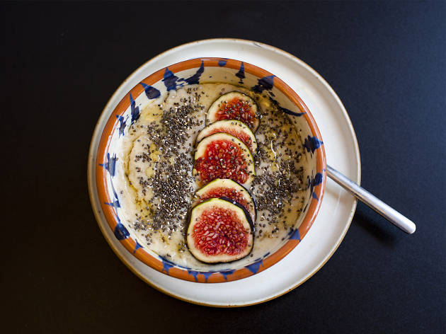 The Scandinavian one: porridge with fig, chia seed and agave syrup at Lundenwic