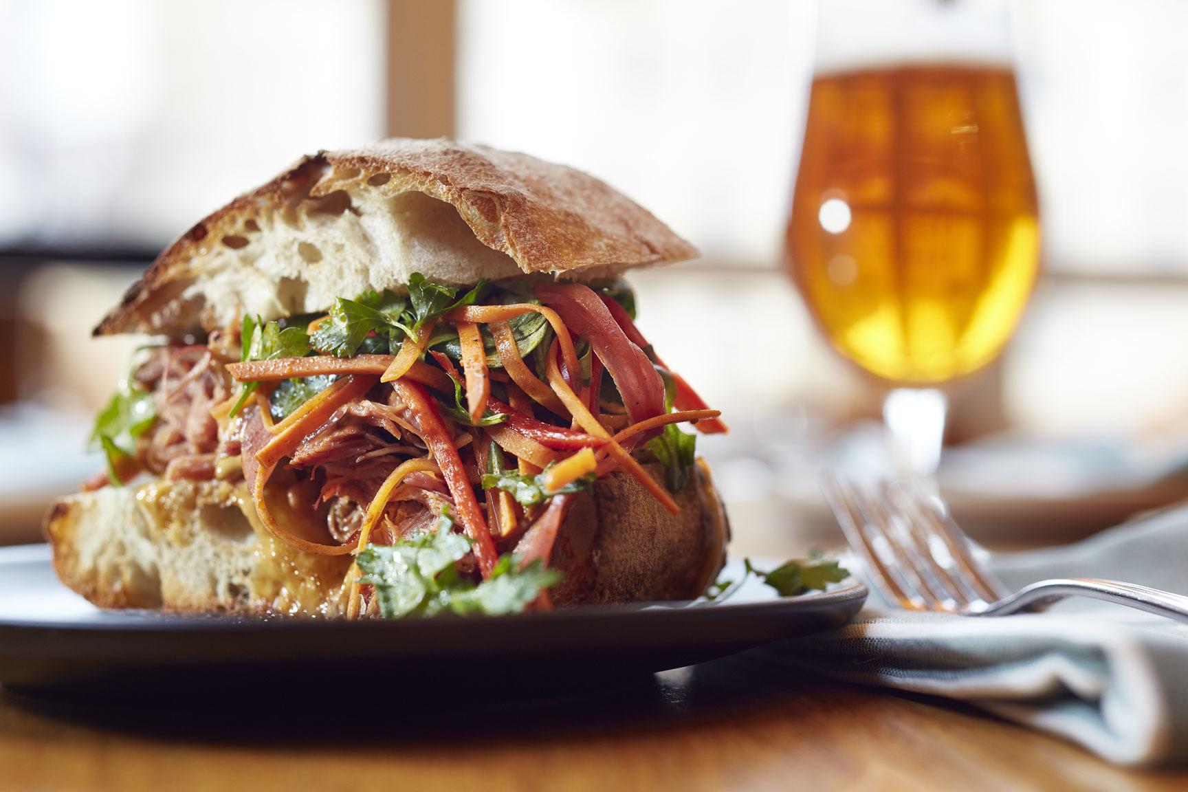Slow-roasted pork sandwich at Avec