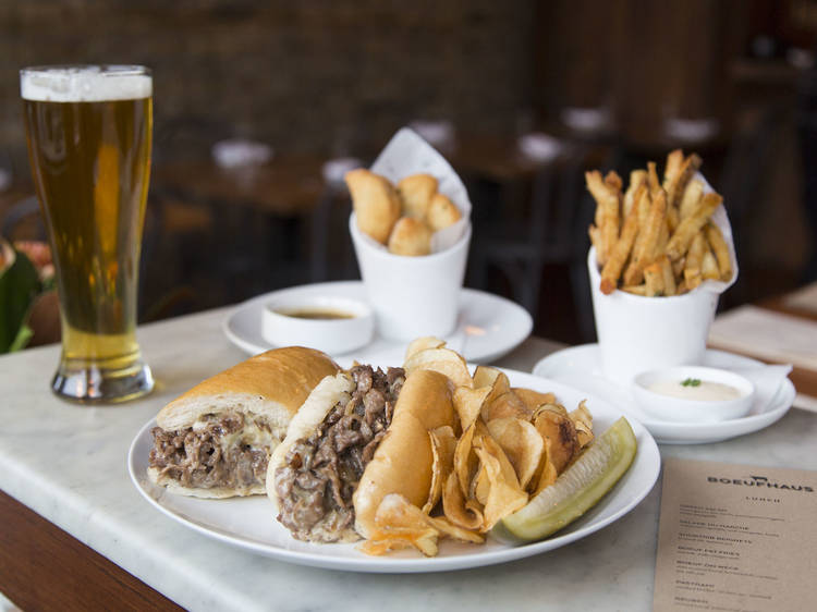 Philly cheesesteak at Boeufhaus