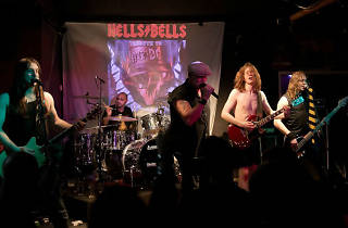 Photo of Hells Bells on stage