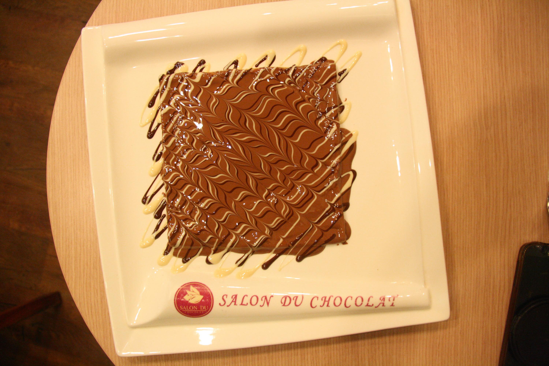 Chocolate crêpe from Salon du Chocolat
