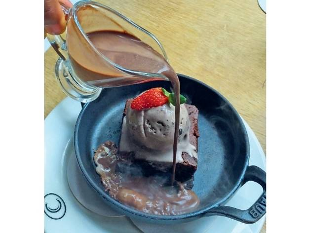 Sizzling brownie and oreo ice cream from Acme Bar & Coffee