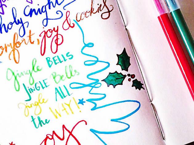 Christmas Calligraphy Volunteering Event