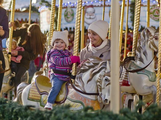 kids' ride at winter wonderland