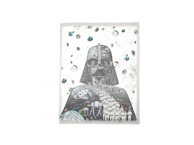Star Wars style: Darth Vader cotton blend scarf by Emma Shipley