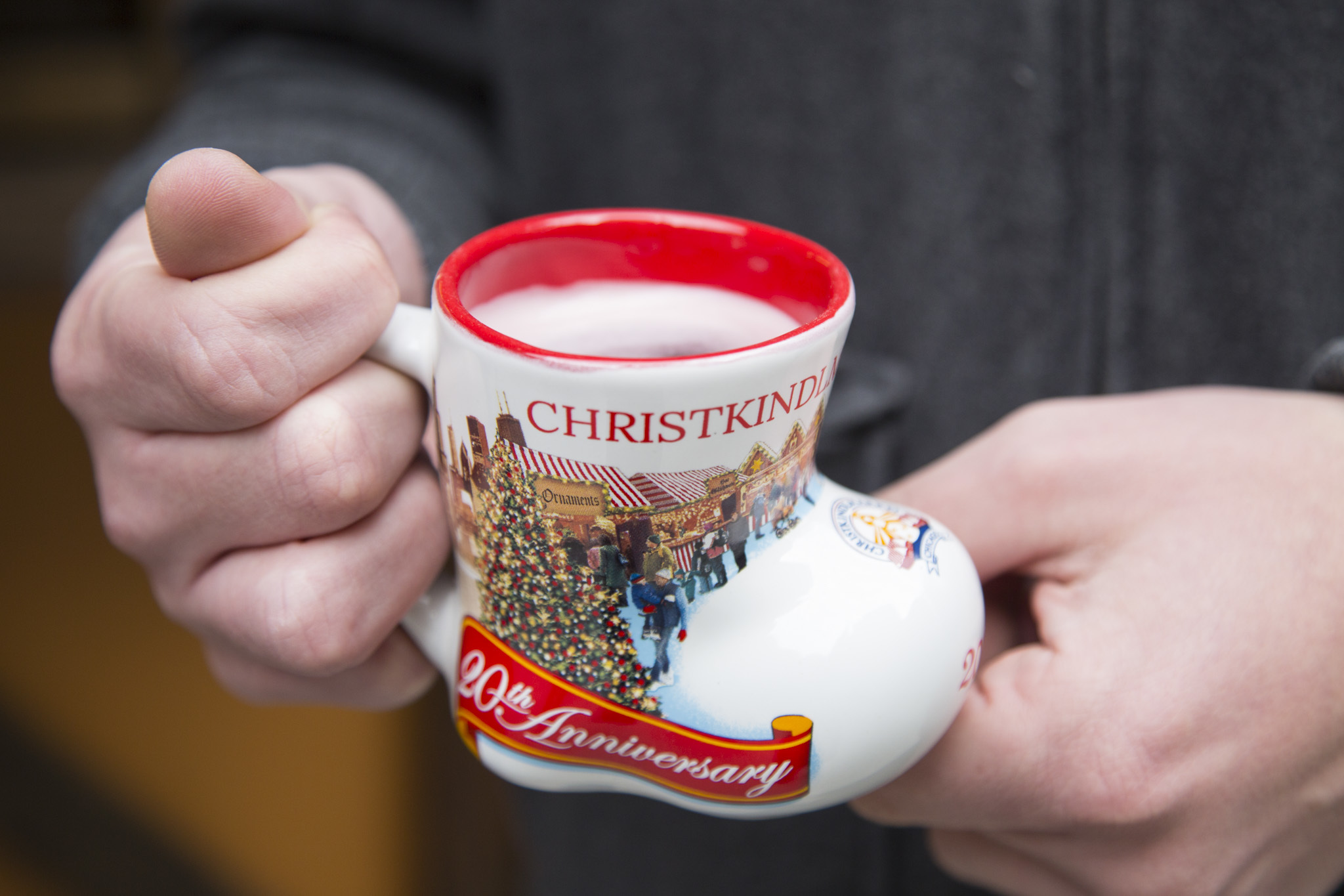 Gluhwein-filled boot at Christkindlmarket