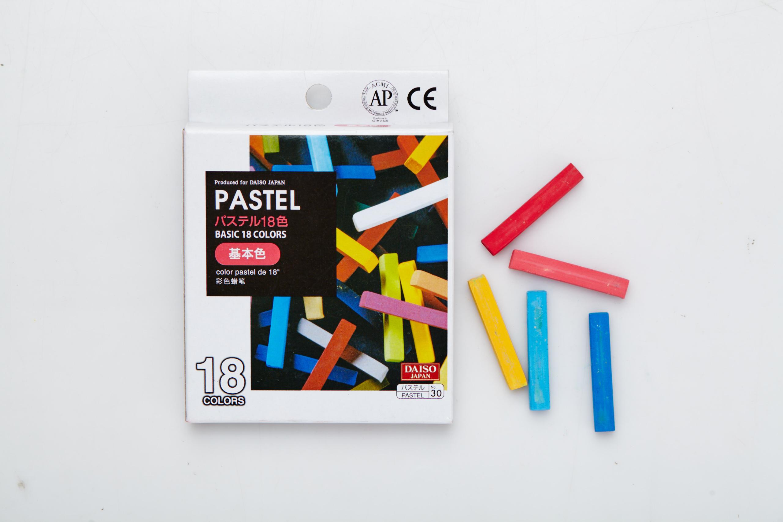 Pastel hair chalk