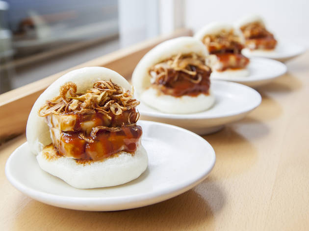 Confit pork bao at Bao