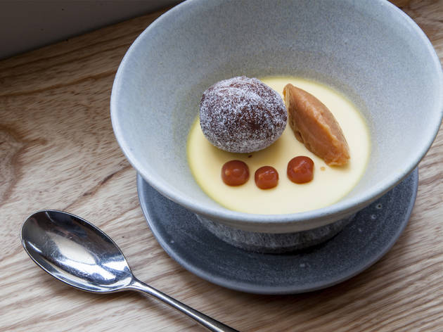 Yoghurt with doughnuts and quince at Upstairs at the Trinity