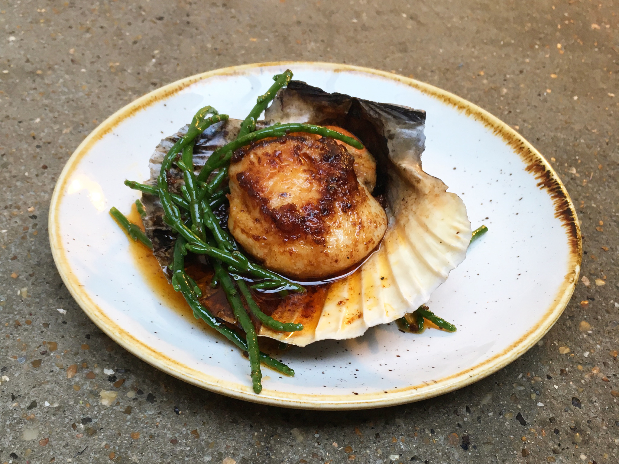 100 best dishes in London - Rok Smokehouse - scallop with nduja