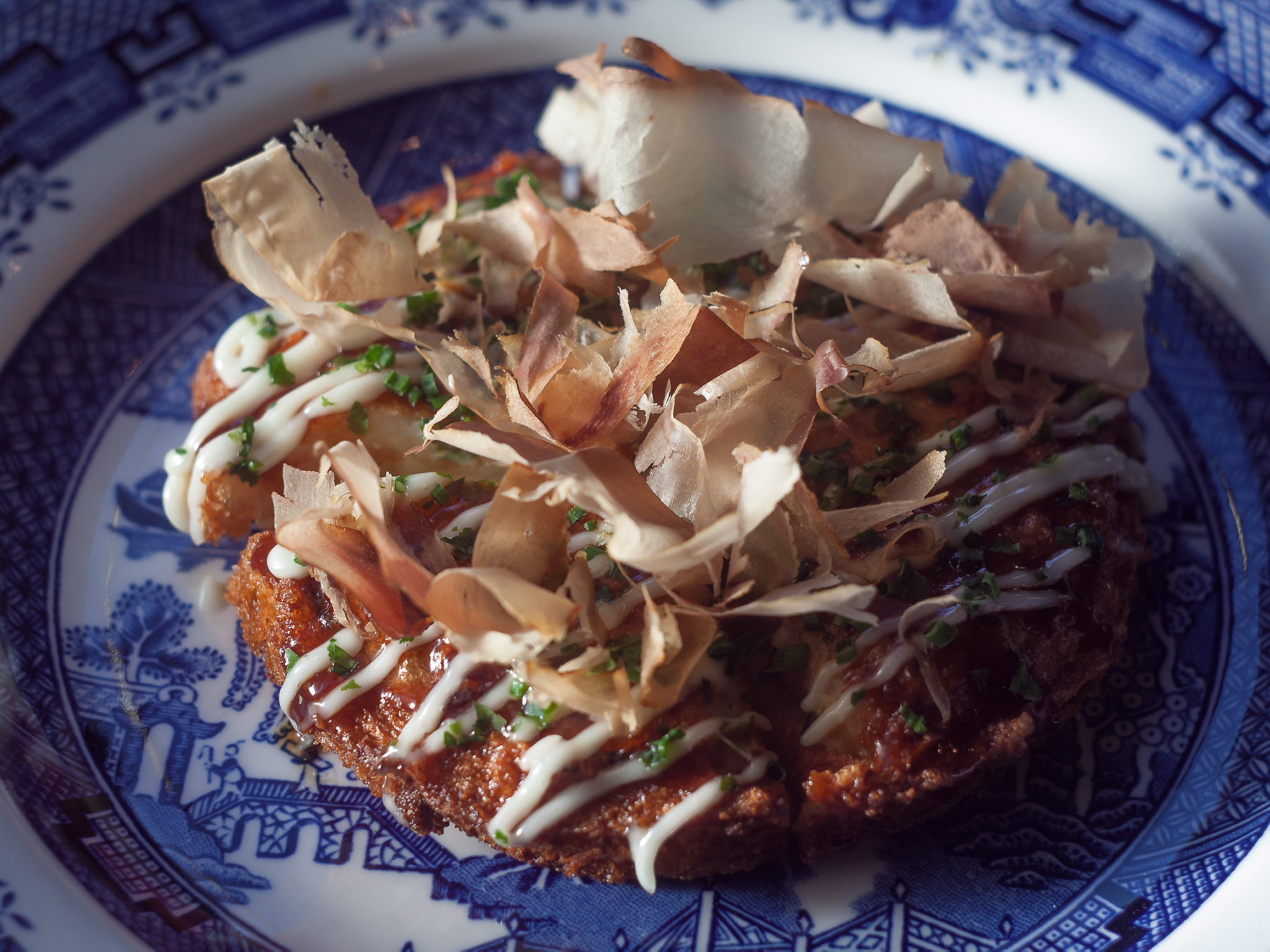 'Prawn toast masquerading as okonomiyaki' at Shackfuyu