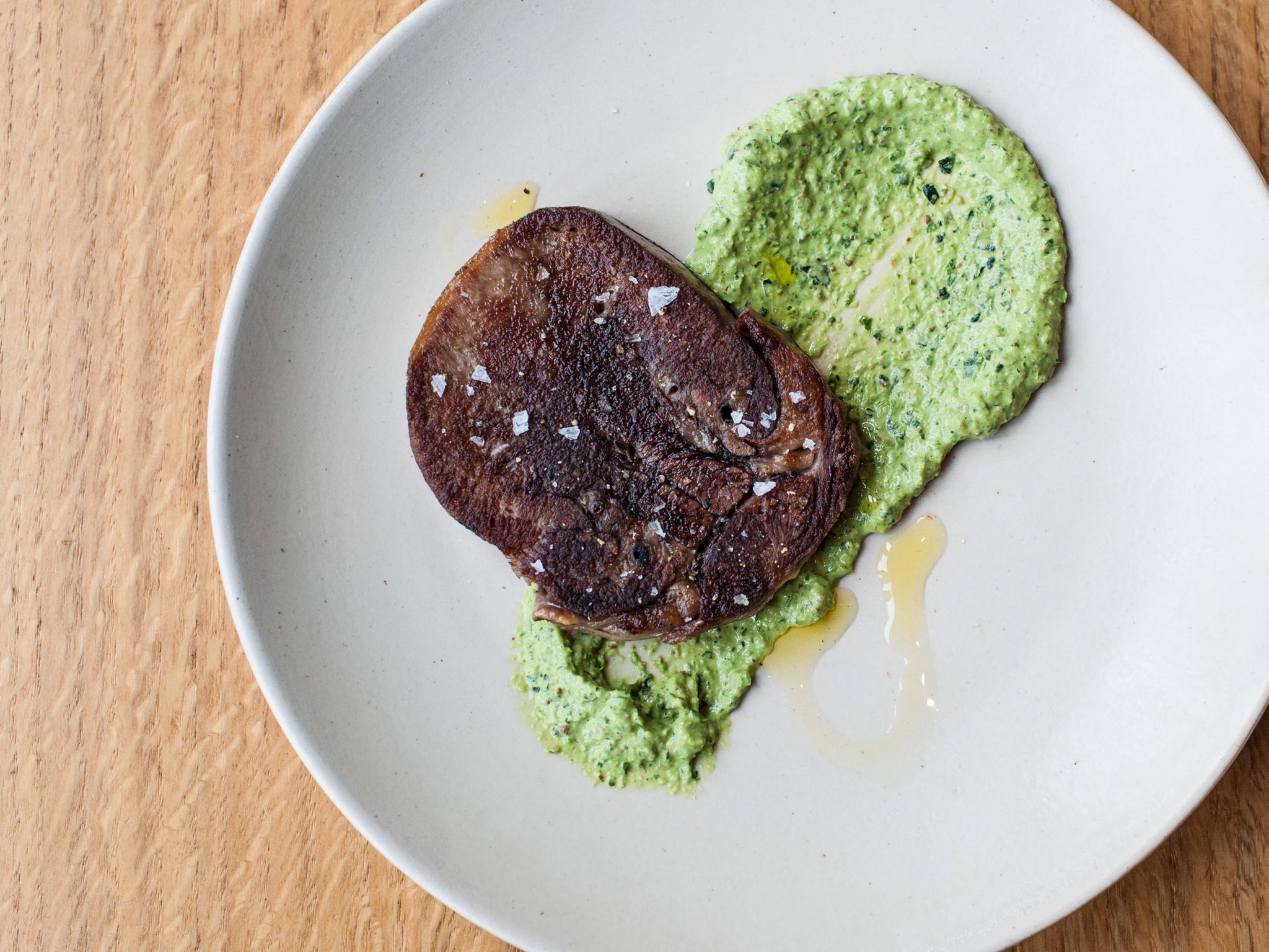 Ox tongue with salsa verde at Artusi