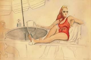 Mujer en la terraza