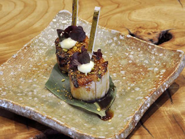 100 best dishes - roka - robata-grilled scallops