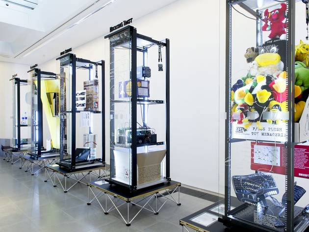 (Simon Denny: 'Products for Organising' exhibition view. © the artist, courtesy Serpentine Galleries. Photo: © 2015 readsreads.info)