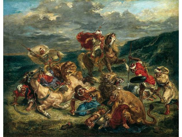 (Eugène Delacroix: 'Lion Hunt', 1861. © The Art Institute of Chicago, Illinois )