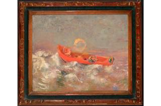 (Odilon Redon: 'The Red Barque', about 1895. Musée d'Orsay, Paris)